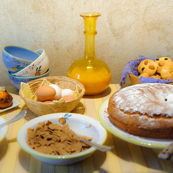 Dolci freschi tutti i giorni, preparati a mano alla colazione al B&B Pomarancio